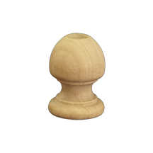 100 Pcs Finial Dowel Cap Ends 1-1/16' tall x 3/4' wide w/ 3/8' holes