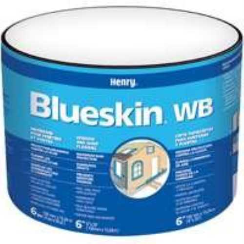 Blue Skin BH200WB4559 Self-Adhesive Window and Door Flashing, 4 in W x 50 ft L x 35 mil T