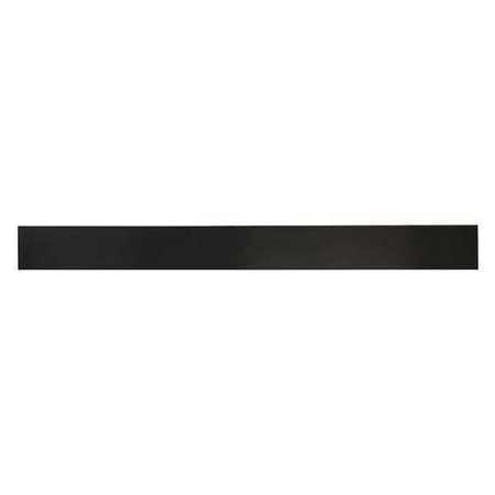 E. JAMES 1/8' Comm. Grade Neoprene Rubber Strip, 2'x36', Black, 30A, 6030-1/8X