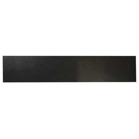 E. JAMES 3/32' Comm. Grade Neoprene Rubber Strip, 4'x36', Black, 30A, 6030-3/32Y