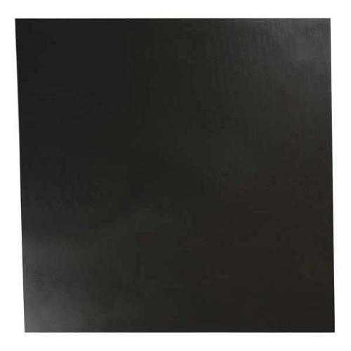 E. JAMES 1/16' Comm. Grade Buna-N Rubber Sheet, 12'x12', Black, 50A, 4050-1/16A