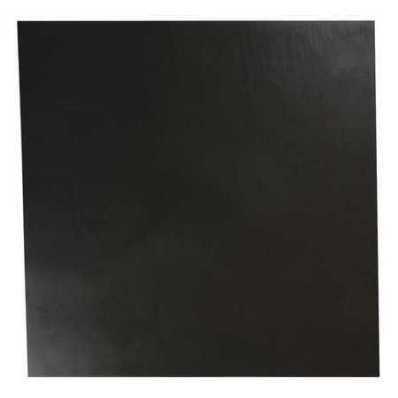 E. JAMES 1/16' Comm. Grade Neoprene Rubber Sheet, 12'x12', Black, 70A, 2080-1/16A