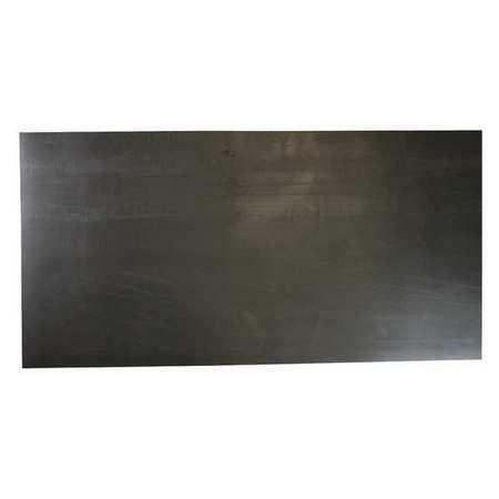 E. JAMES 1/64' Military Spec. Buna-N Rubber Sheet, 12'x36', Black, 50A, 1149T1C51/64B5D