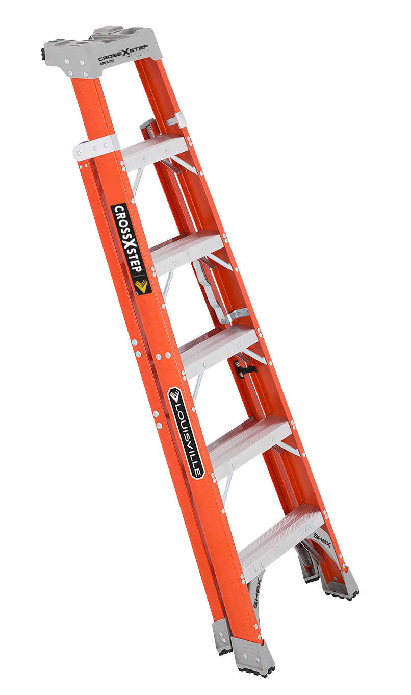 Louisville Ladder FXS1506 6 ft.Fiberglass Cross Step Ladder, Type IA, 300 Lbs Load Capacity
