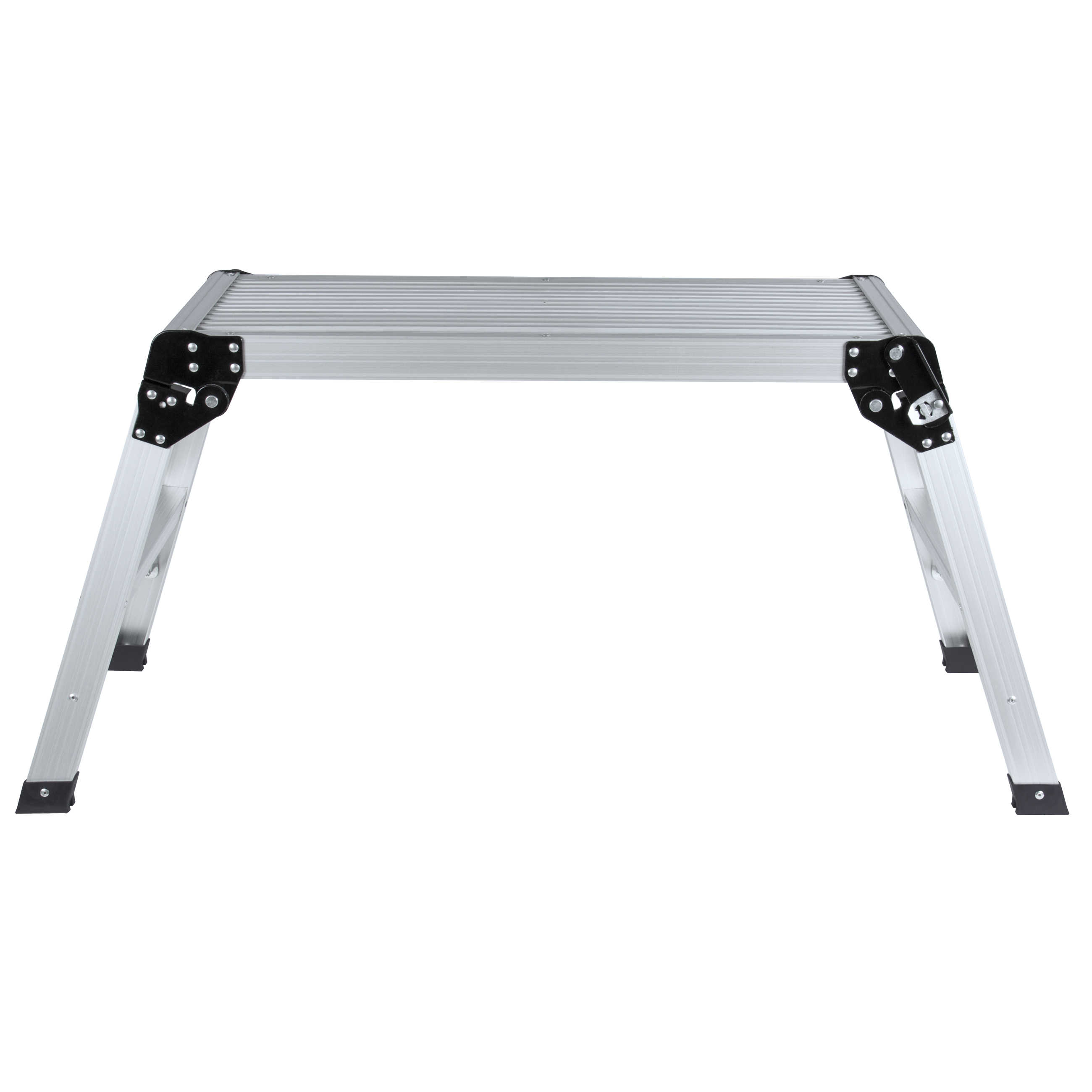 Best Choice Products BCP Certified EN131 Aluminum Platform Drywall Step Up Folding Work Bench Stool Ladder