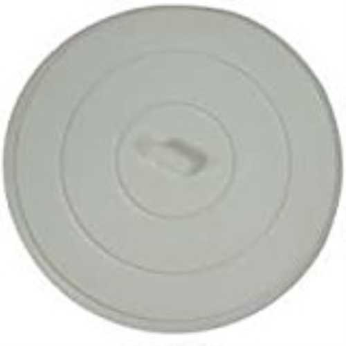 Worldwide Sourcing PMB-102-3L Flat Suction Sink Stopper, Fits Size 5 in, White