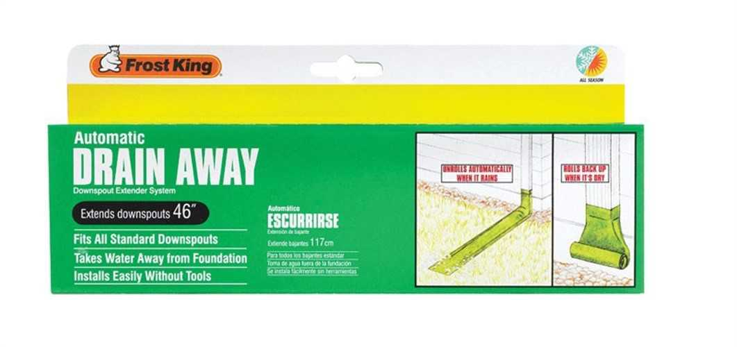 Frost King Automatic Drain Away For Downspouts 4 ' Plastic Green