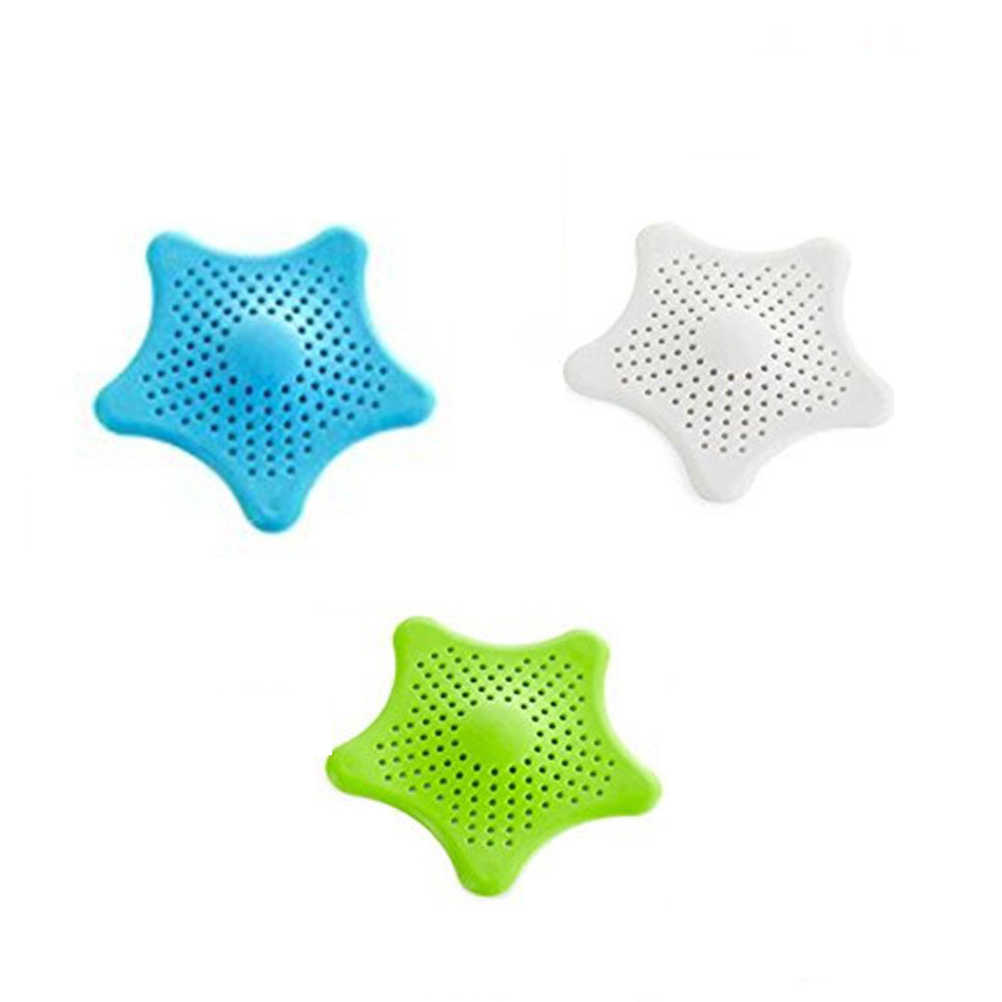 Silica Gel Drain Cover Kitchen Bathroom Sink Strainers Basket Hair Catcher, 3pcs Pack