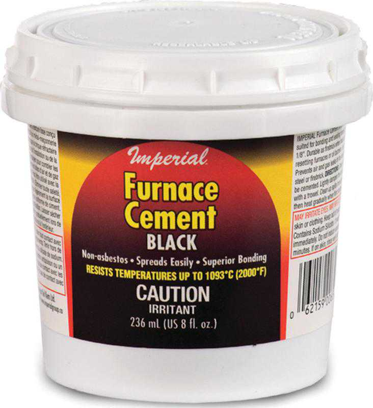 Imperial KK0077-A Furnace Cement, 236 ml, Tub, Black, Thick Paste