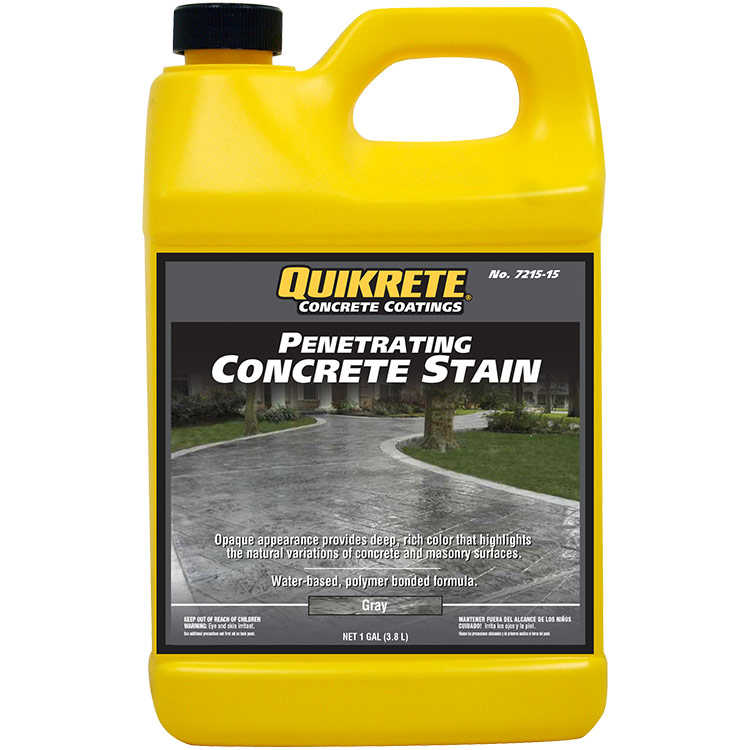 Quikrete Penetrating Concrete Stain Gray gal