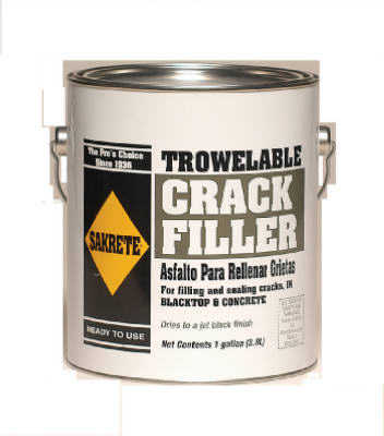 SAKRETE OF NORTH AMERICA Trowelable Asphalt/Blacktop Crack Filler, 1-Gallon