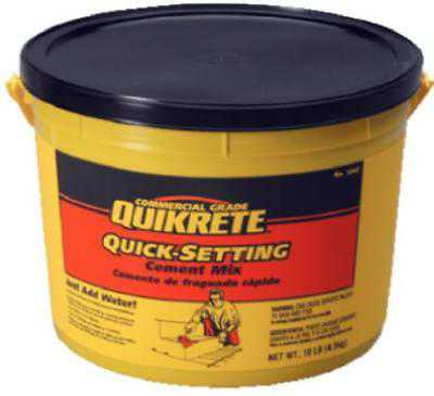 10 LB Pail Quik Setting Cement Only One
