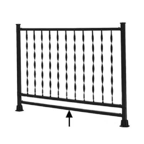 Gilpin Ironworks 104 Windsor Railing Channel, 4-Ft. x 1.25-In.