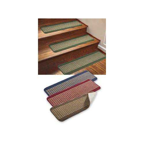 IMPERIAL RUG CARPET STAIR TREADS - HUNTER GREEN (SET OF 4)