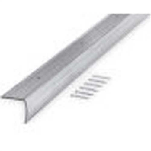 M-D 78022 Fluted Stair Edging, 36 in L x 1-1/8 in W x 1-1/8 in H, Aluminum, Silver