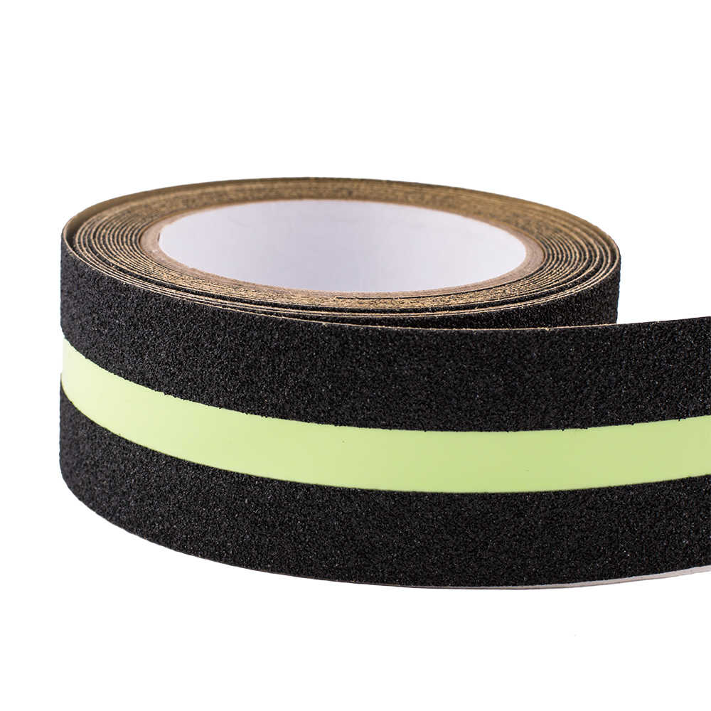 Anti Slip Self Adhesive Fluorescent Luminous Glow In The Dark Safety Tape
