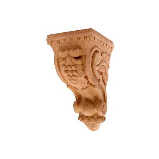 Small Grape Corbel Red Oak 5 x 5-3/4 x 10