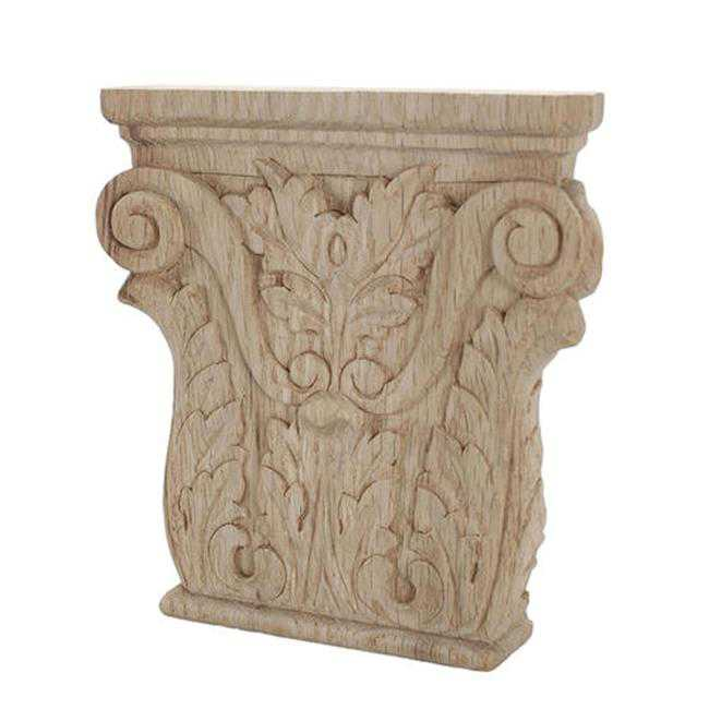 American Pro Decor 5APD10436 Small Carved Wood Applique