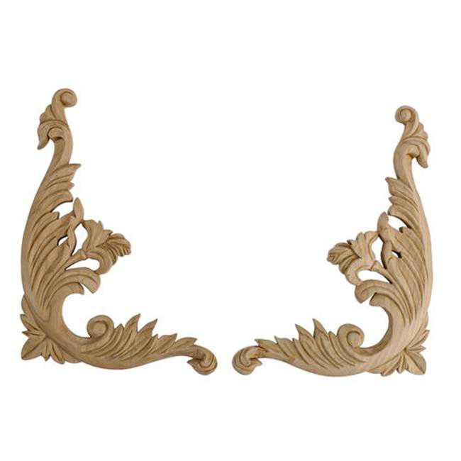 American Pro Decor 5APD10420 Medium Carved Wood Scroll
