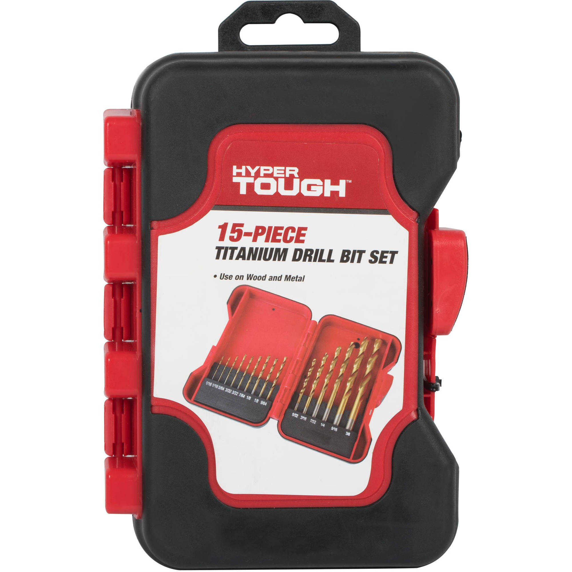 Hyper Tough 3431 15-Piece High Speed Drill Bit Set