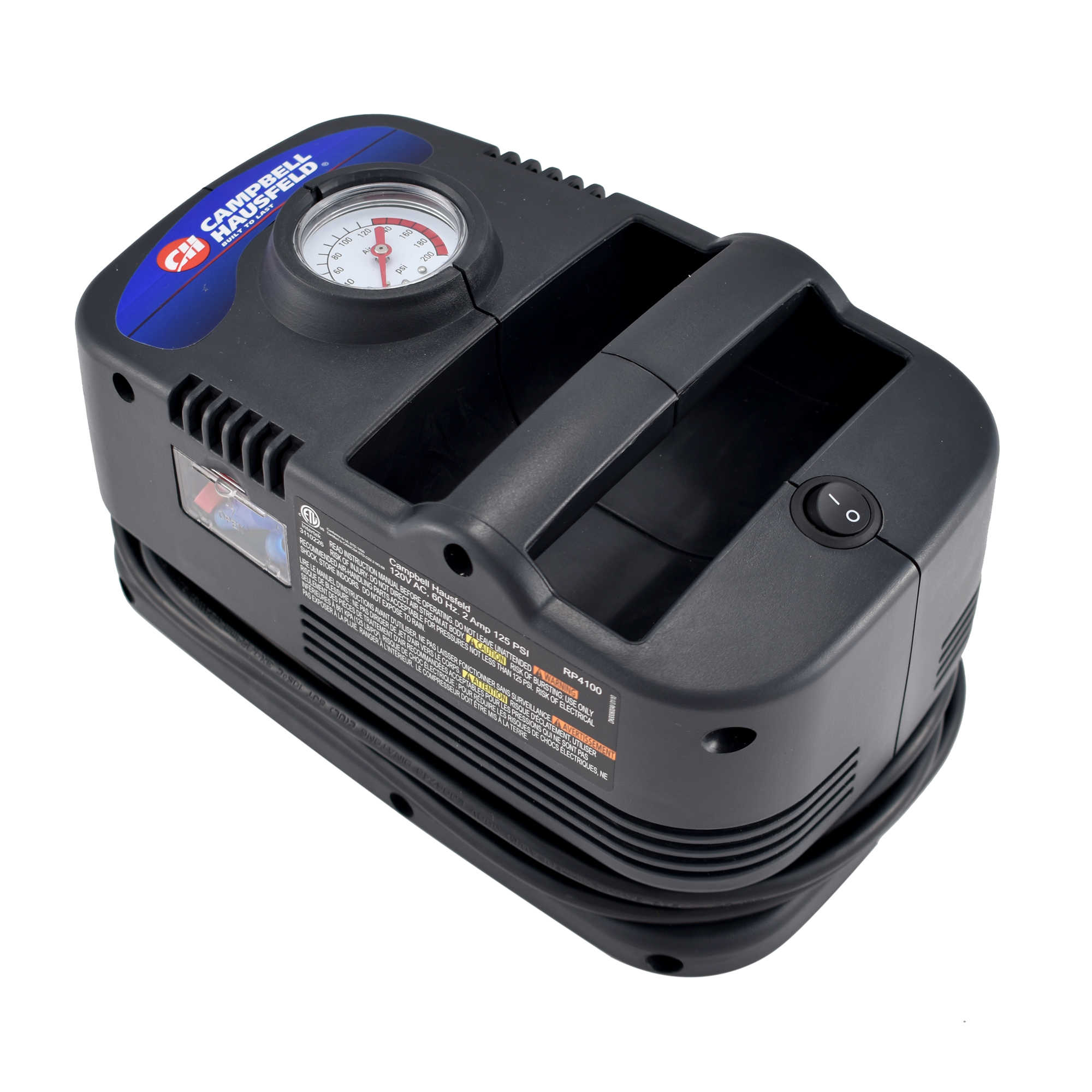 Campbell Hausfeld 120V Inflator with Gauge and Presta-to-Schrader Valve Adapter (RP410099AV)