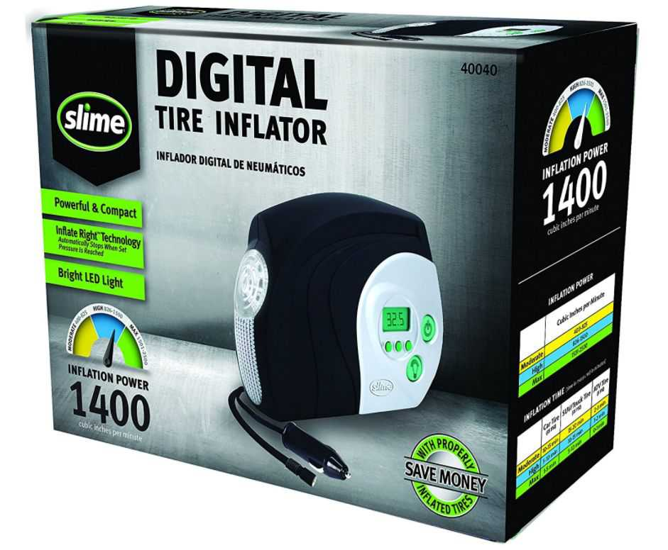 Factory Reconditioned Slime 40040 Tire Inflator with Digital Display (12-volt)