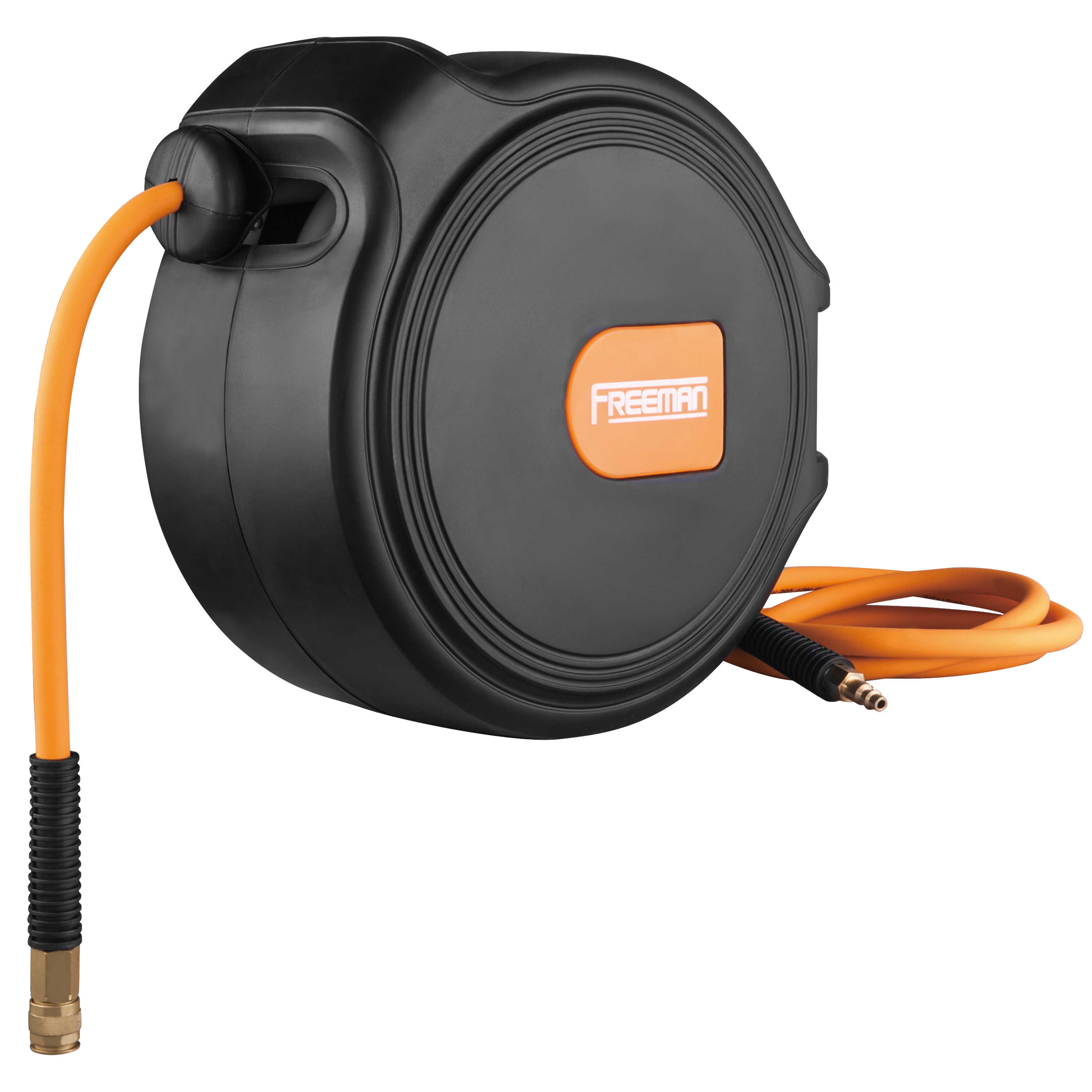 Freeman 65 ft. Compact Retractable Air Hose Reel with 1/4' Hybrid Air Hose and 180º Swivel Wall Mount
