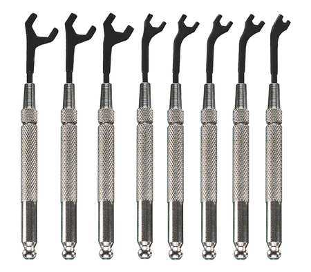 MOODY TOOL Open End Wrench Set,30 Deg,5/64-5/16,8P 58-0151