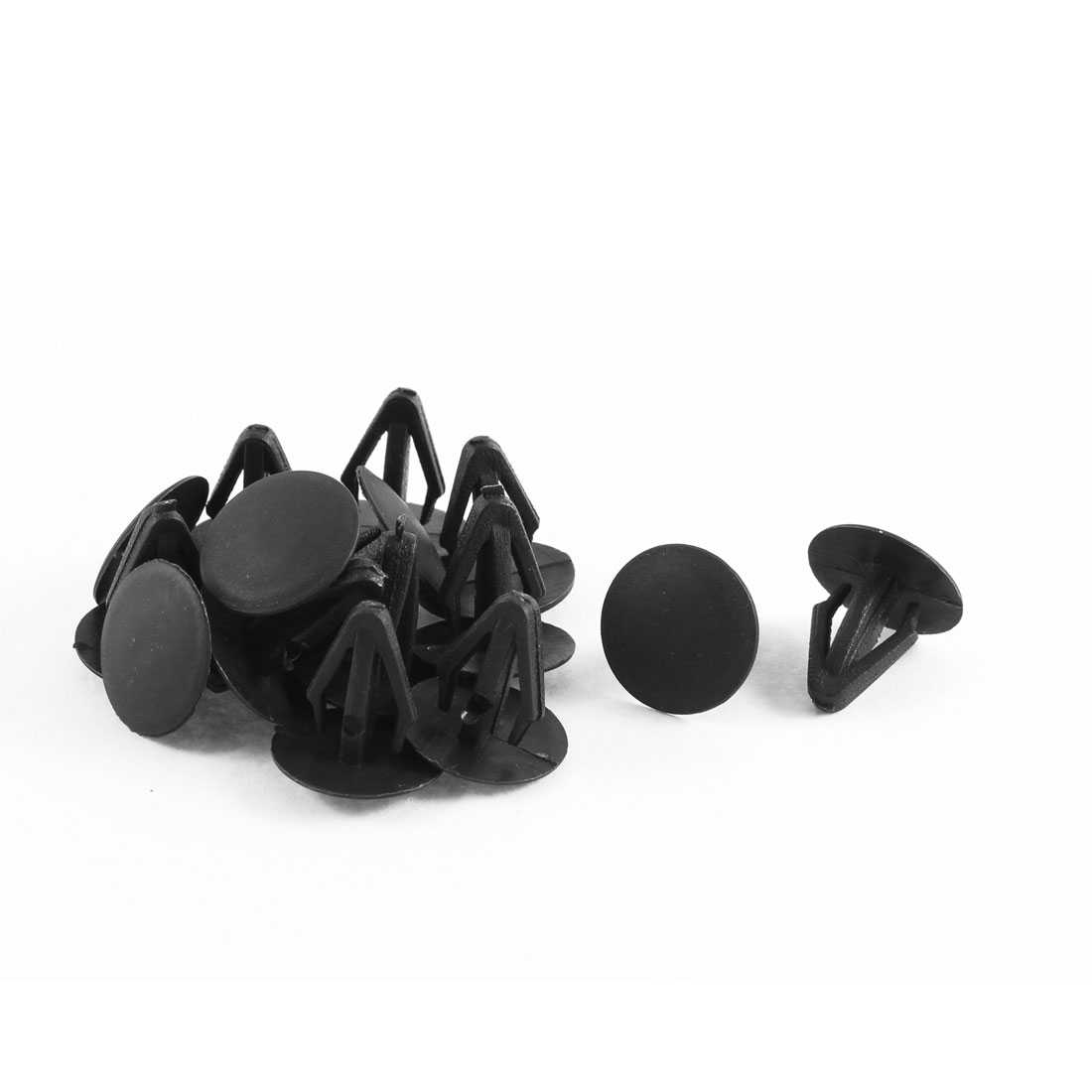 15 Pcs Black Fastener Rivet Retainer Hood Insulation Clips for 10mm Hole Dia