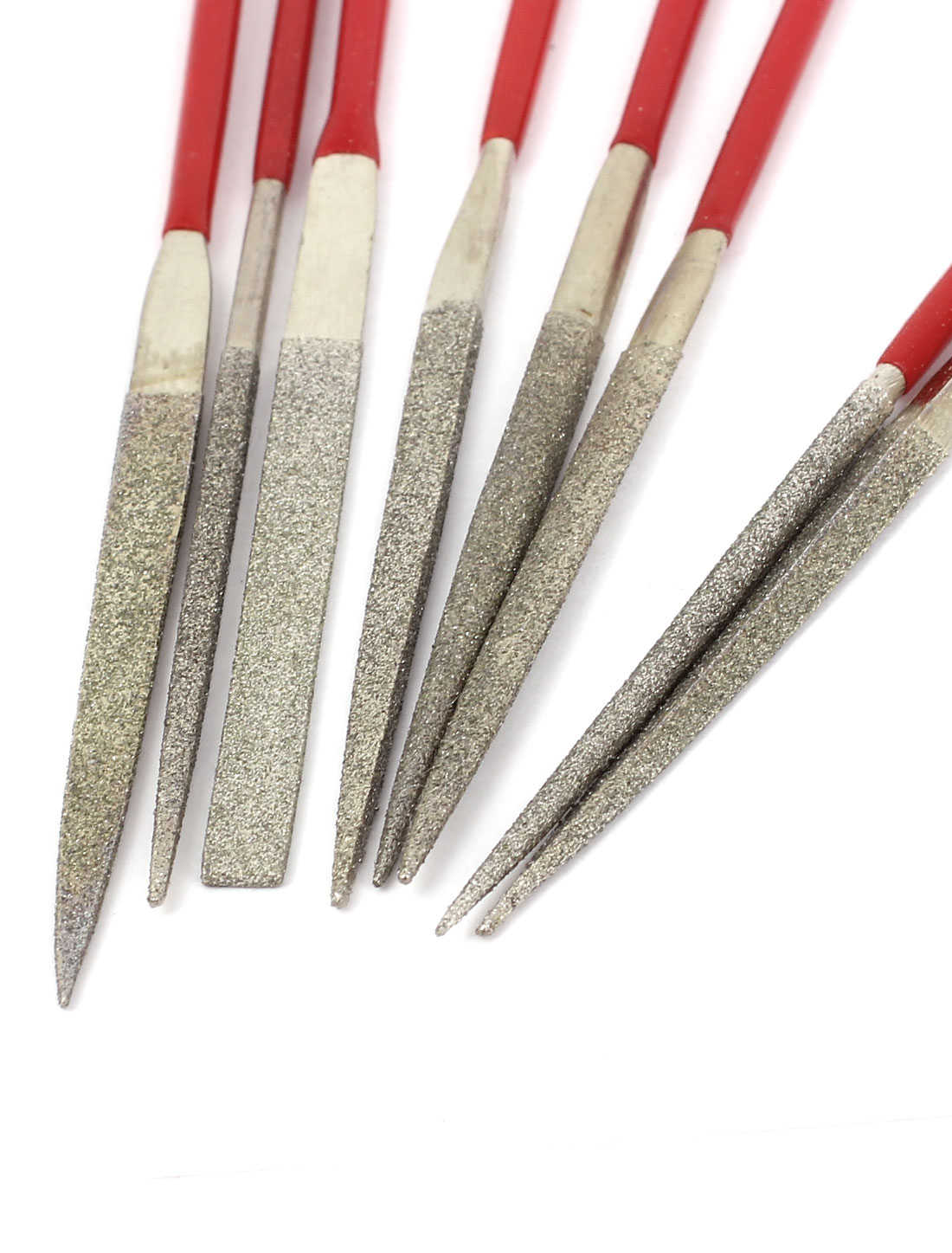 8Pcs 2mmx100mm Diamond Coated Flat Needle Files Jeweler Carving Stone Craft Tool