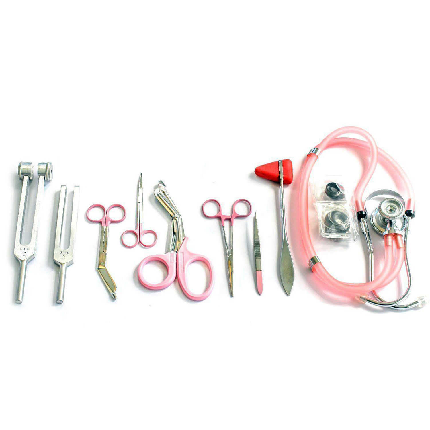 9 Piece Medical Diagnostic Kit in Pink Ideal for EMT, Nursing, Surgical, EMS