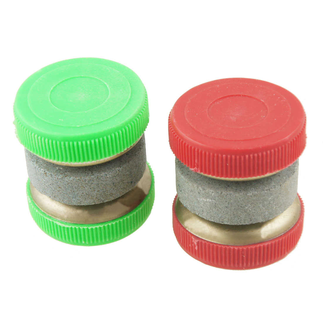Unique Bargains 2 Pcs Red Green Grit Lapped Whetstone Abrader Sharpener Tool