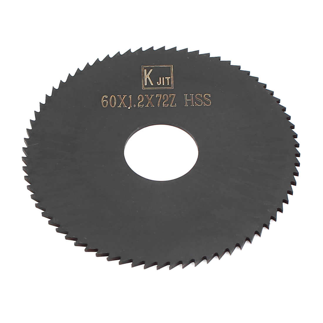 Unique Bargains 60mmx1.2mmx16mm Black HSS 72T Slitting Slotting Saw Blade Cutter Cutting Tool