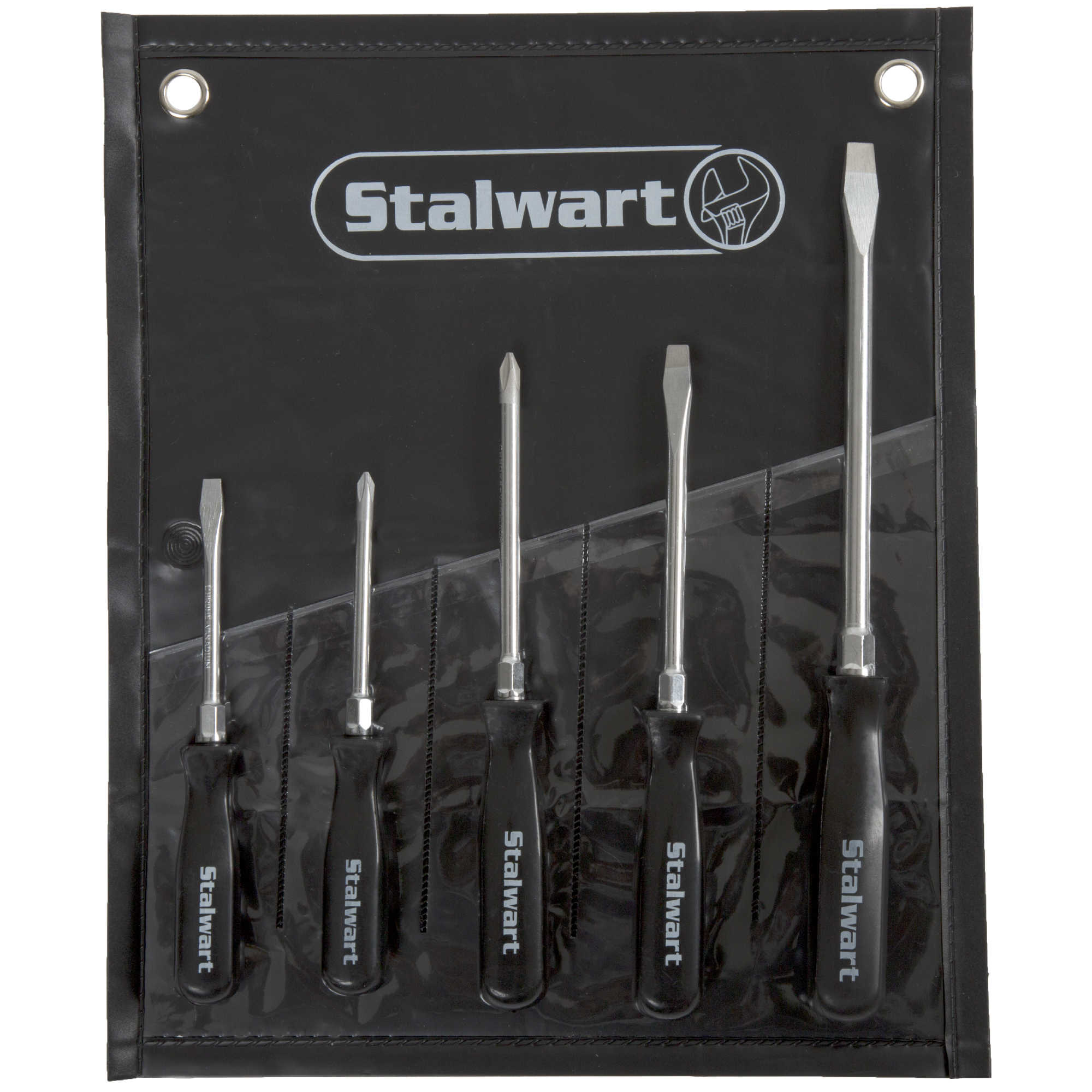 5 PC Screwdriver Set with Storage Pouch - Slotted & Phillips by Stalwart