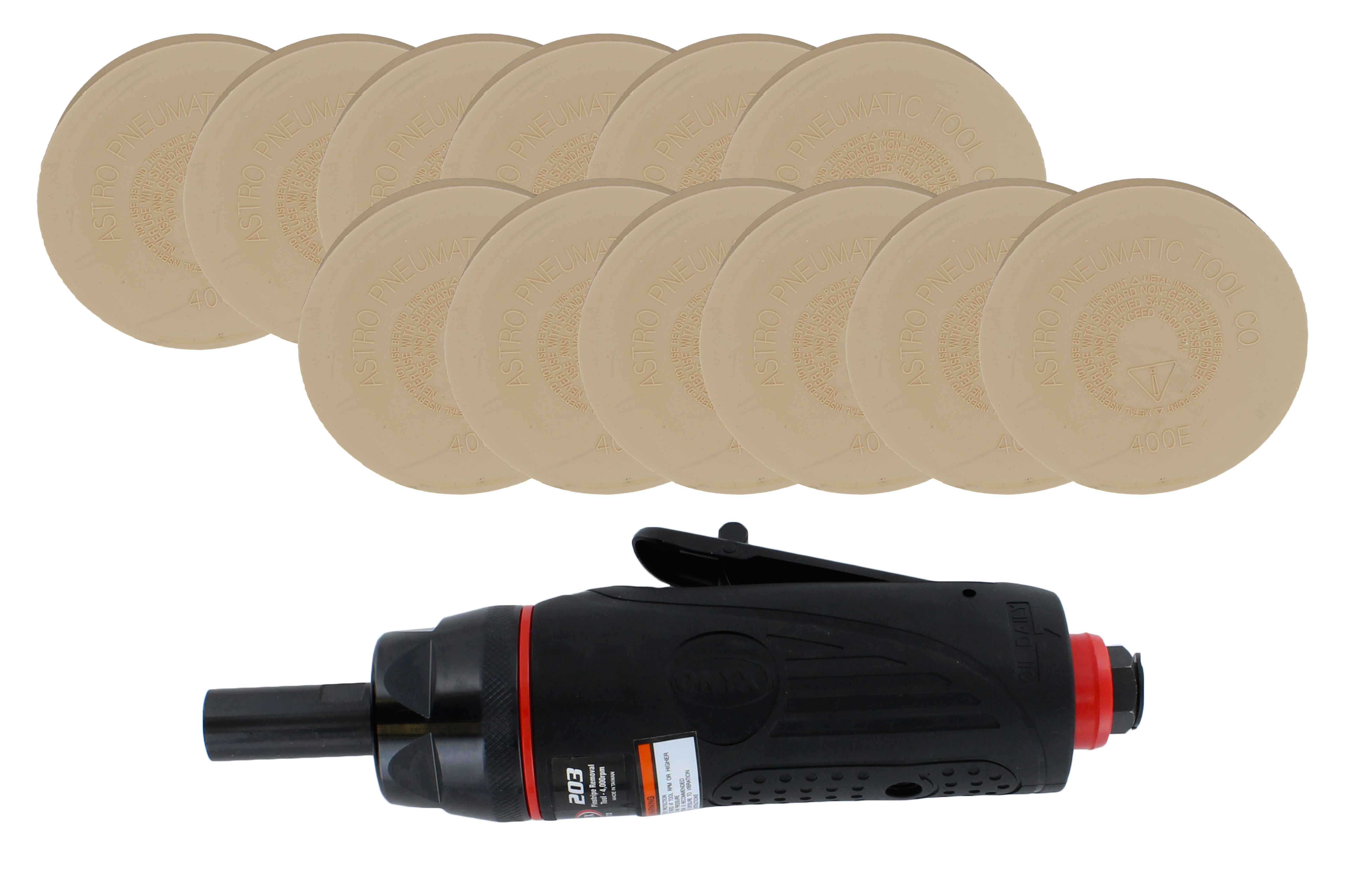 Astro Pneumatic 1232 ONYX Pinstripe Removal Kit (1 Tool + 12 Eraser Wheels)