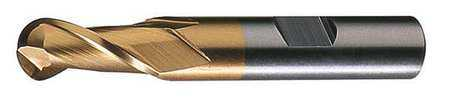 CLEVELAND C41551 HSS End Mill, 3/16 In D, 7/16 In Cut L