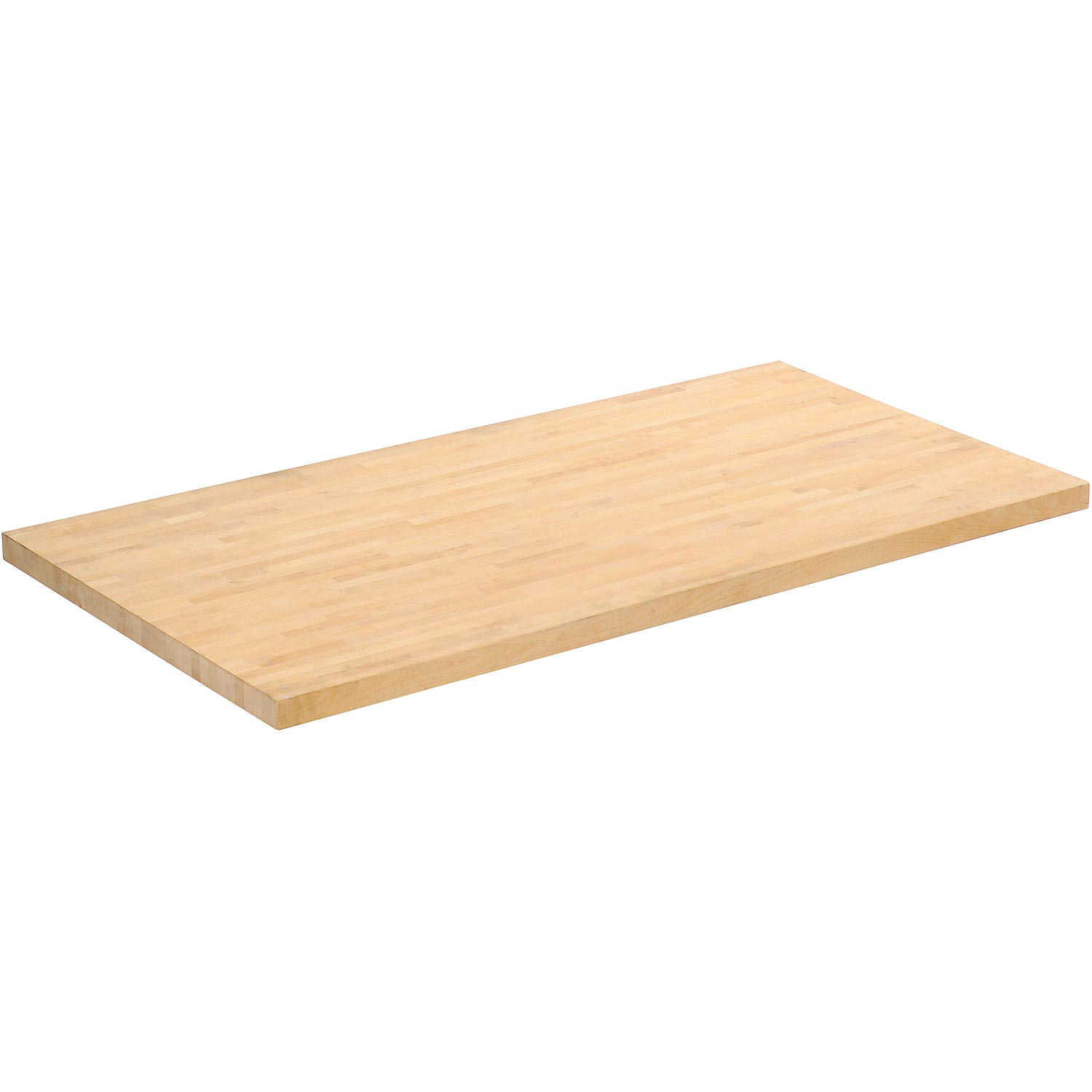Workbench Top - Birch Butcher Block Square Edge, 60'W x 36'D x 1-3/4' Thick, Lot of 1