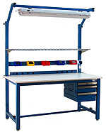 BenchPro KF2460 Kennedy Heavy Duty Steel Industrial Modular Work Bench with Laminate Top, 6600 lbs Capacity, 60' Width x 30' Height x 24' Depth