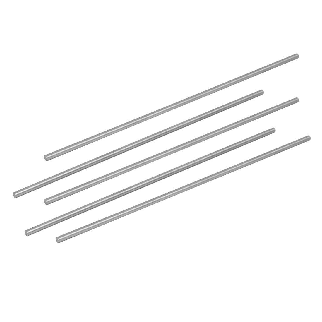 3.5mm Dia 200mm Length HSS Round Shaft Rod Bar Lathe Tools Gray 5pcs