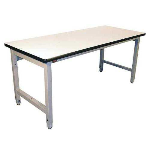 PRO-LINE HD6036C/A31HDLE-6 Ergo Workbench, Gray, 60Lx36Wx30H In.