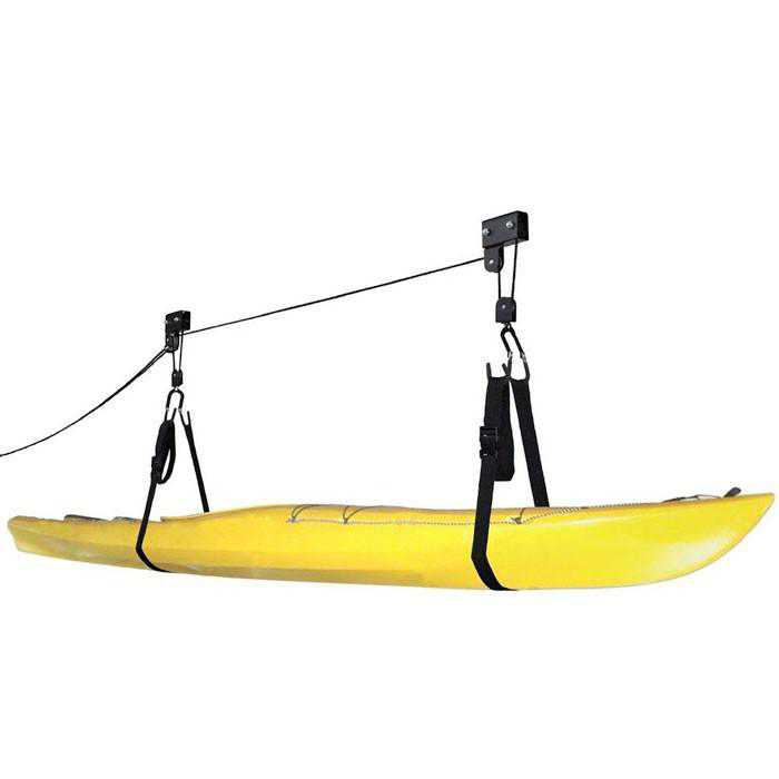 Felji Kayak Canoe Ladder Lift Hoist Kayak For Garage Canoe Hoists 125 lb Capacity