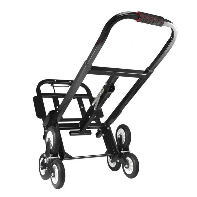 Stair Climber Cart Hand Truck Solid Rubber Tires 440LBS Barrow Portable Hand Truck Heavy Duty for Transporting Carrying