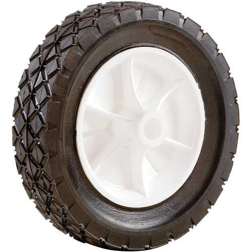 Shepherd 9610 6' x 1-1/2' Plastic Hub Semi Pneumatic Rubber Tire
