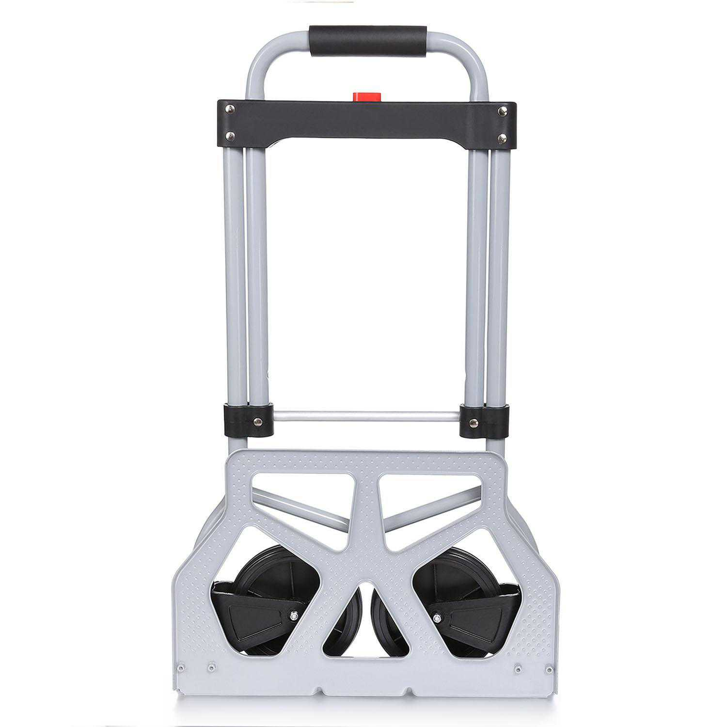 Clearance ! Portable Folding Hand Truck Dolly Luggage Carts, Silver, 220 lbs Capacity, Industrial/Travel/Shopping OCTAP