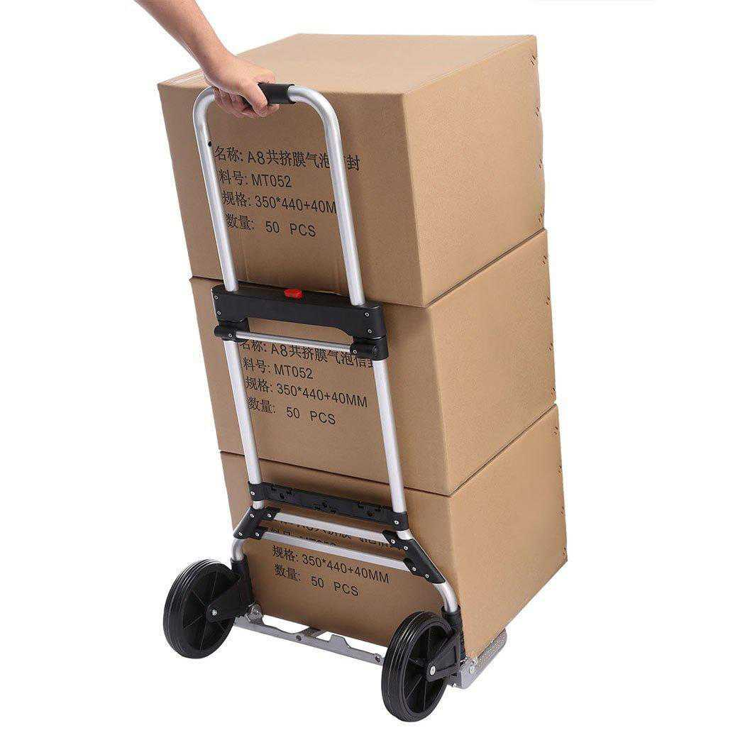 Telescoping Portable Folding 150 lbs Hand Truck Dolly Luggage Carts Aluminum Alloy SPHP