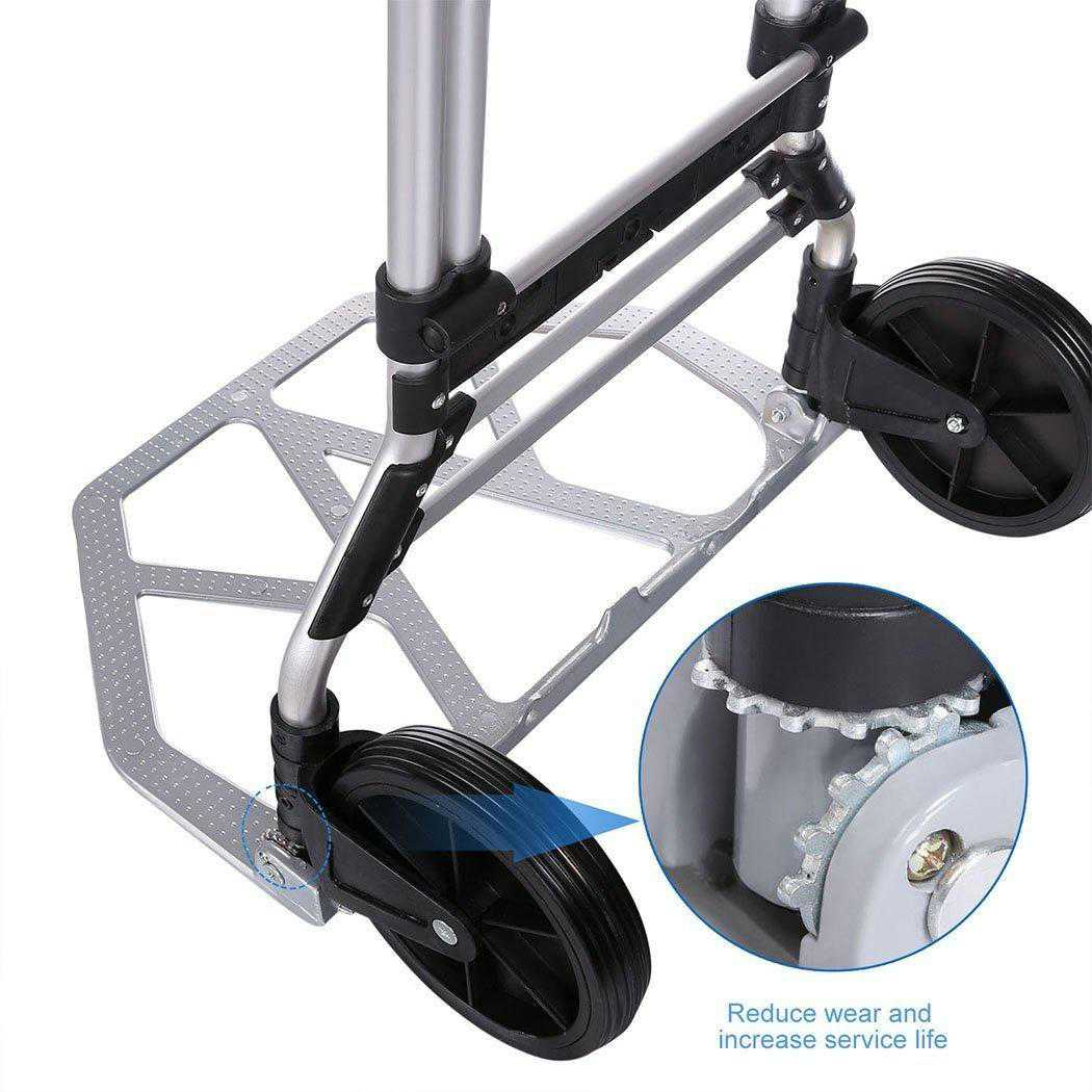 Telescoping Portable Folding Hand Truck Dolly Luggage Carts ECBY