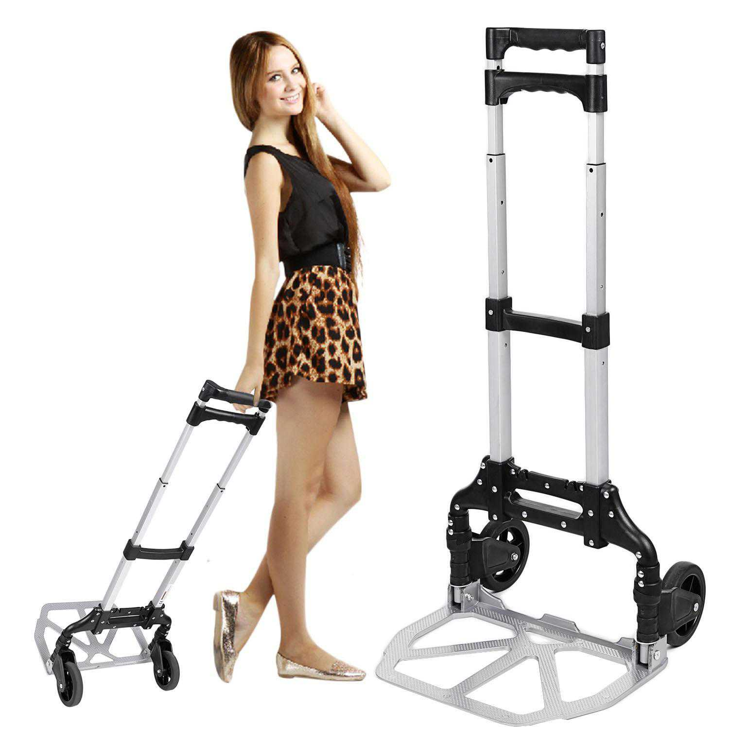 Folding Hand Truck Telescoping Portable Dolly Luggage Carts WIMA