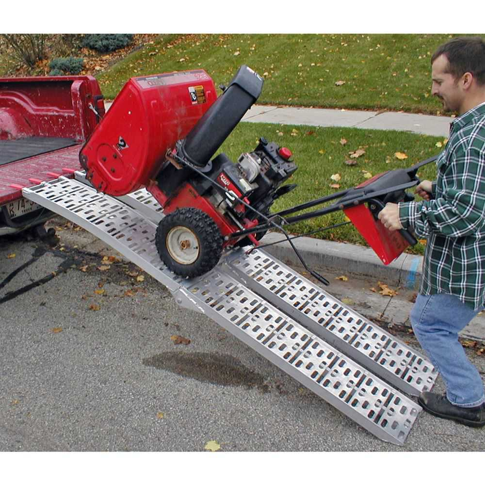 90' Dual Runner Aluminum Solid Surface Arched Folding ATV Ramps with a 1,500 lb. Capacity