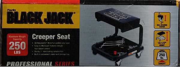 Torin Jacks Creeper Seat, Black