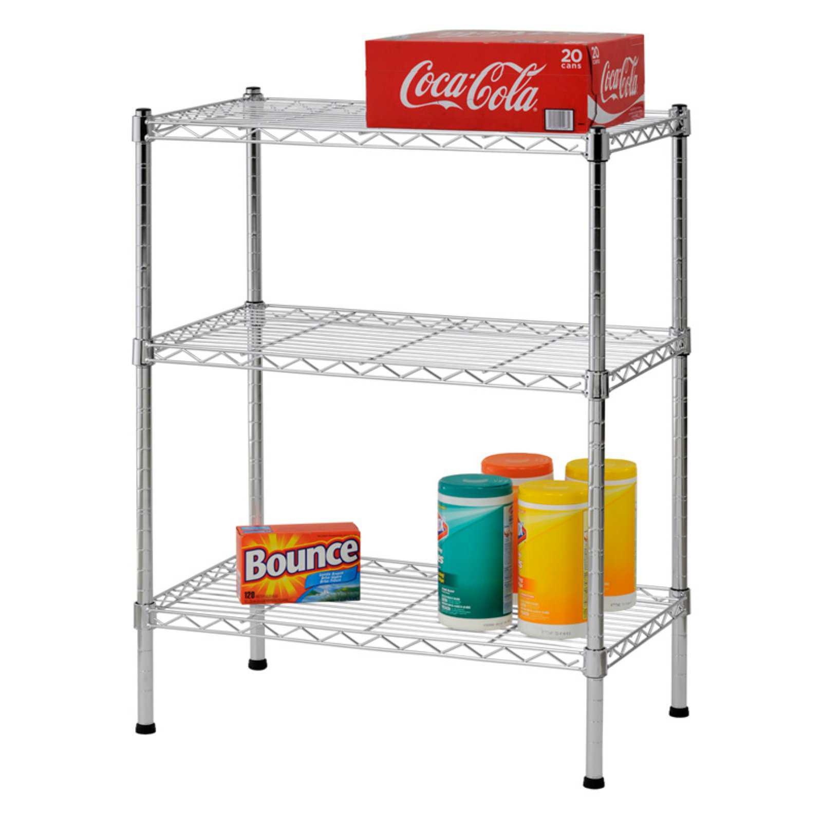 Muscle Rack 3-Shelf 24'W x 30'H x 14'D Steel Wire Commercial Shelving Unit